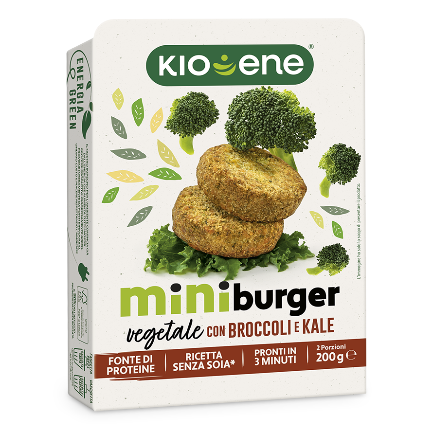 Mini Burger Vegetale con Broccoli e Kale